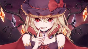 Rating: Safe Score: 0 Tags: 1girl alternate_costume bangs bare_shoulders black_cape black_collar black_hat blonde_hair bow cape collar cross-laced_clothes crystal detached_sleeves dtvisu eyebrows_visible_through_hair eyes_visible_through_hair fangs flandre_scarlet hair_between_eyes hand_up hat hat_bow high_collar index_finger_raised light_particles long_hair looking_at_viewer mob_cap nail_polish one_side_up open_mouth red_bow red_cape red_eyes red_nails red_ribbon ribbon slit_pupils smile solo spaghetti_strap tongue tongue_out touhou_project upper_body wings yellow_nails User: DMSchmidt