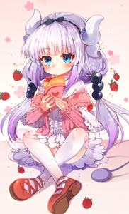 Rating: Safe Score: 1 Tags: 1girl baocaizi blue_eyes blush crepe dragon_girl dragon_horns eating eyebrows_visible_through_hair food frilled_skirt frills fruit hairband highres horns kanna_kamui kobayashi-san_chi_no_maidragon lavender_hair long_hair looking_at_viewer sitting skirt solo strawberry tail thighhighs twin_tails white_legwear white_skirt User: DMSchmidt