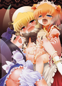 Rating: Explicit Score: 2 Tags: 3girls bad_id black_hair blonde_hair blue_eyes blush fang fingering flat_chest fuurisuto green_eyes hat long_hair luna_child multiple_girls pussy red_eyes short_hair spread_legs star_sapphire sunny_milk team_shanghai_alice touhou_project twin_tails uncensored wings yuri User: DMSchmidt