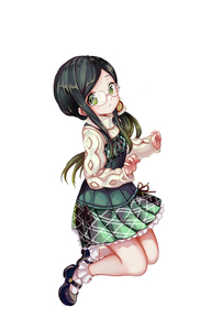 Rating: Safe Score: 0 Tags: 1girl aran_sweater black_footwear bobby_socks closed_mouth dress fingernails full_body glasses green_dress green_eyes green_hair long_hair long_sleeves looking_at_viewer pisuke ryuuou_no_oshigoto! sadatou_ayano User: Domestic_Importer