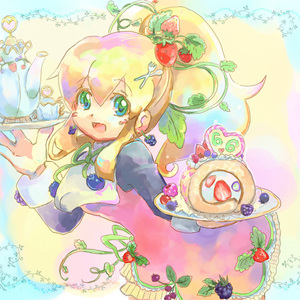 Rating: Safe Score: 0 Tags: 1girl blonde_hair blush_stickers dessert dinef food fruit grapes green_eyes hairclip holding_tray long_hair long_sleeves looking_at_viewer open_mouth ponytail red_skirt rockman rockman_(classic) roll solo strawberry teacup tray User: DMSchmidt
