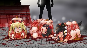 Rating: Explicit Score: 0 Tags: blonde_hair blood character_request copyright_request dismemberment guro hair_ribbon harasaki intestines ribbon scat twin_tails vomit User: kuro