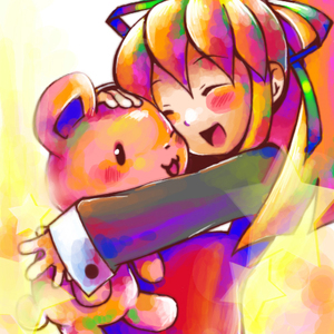 Rating: Safe Score: 0 Tags: 1girl artist_request blonde_hair capcom hair_ribbon lowres ribbon rockman rockman_(classic) roll solo stuffed_animal stuffed_toy teddy_bear User: DMSchmidt