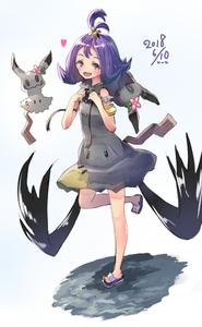 Rating: Safe Score: 1 Tags: 1girl acerola_(pokemon) alternate_costume armlet cosplay dated e-co elite_four flipped_hair gen_7_pokemon hair_ornament heart mimikyu mimikyu_(cosplay) one_leg_raised open_mouth pokemon pokemon_(anime) pokemon_(creature) pokemon_sm_(anime) purple_eyes purple_hair sandals short_hair stitches trial_captain User: DMSchmidt