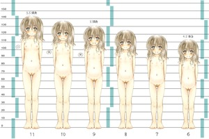 Rating: Questionable Score: 18 Tags: 1girl :d age_progression arms_behind_back blush breasts brown_hair closed_mouth collarbone esan_(llamaesan) flat_chest hair_between_eyes highres lineup long_hair looking_at_viewer navel nose_blush nude open_mouth original pubic_hair pussy small_breasts smile solo standing uncensored User: Domestic_Importer