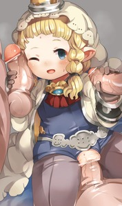 Rating: Explicit Score: 1 Tags: 1girl ;d bar_censor blonde_hair blue_eyes blush braid bridal_veil brown_gloves censored clothed_sex cum cum_in_pussy filasopila flat_chest gangbang gloves granblue_fantasy grey_legwear group_sex handjob hetero highres horn large_penis leotard long_hair nekotewi one_eye_closed open_mouth pantyhose penis penis_on_face pointless_censoring pointy_ears pussy smile solo_focus sweat twin_braids vaginal veil User: DMSchmidt