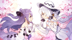 Rating: Safe Score: 0 Tags: 2girls :d >_< age_difference anthropomorphism azur_lane bare_shoulders blush bow dress elbow_gloves eye_contact flowers gloves hand_on_own_chest hat hms_unicorn_(azur_lane) illustrious_(azur_lane) illustrious_(bilan_hangxian) long_hair looking_at_another low_twintails multiple_girls open_mouth petals pinky_swear ponytail purple_eyes purple_hair revision smile strapless strapless_dress stuffed_animal stuffed_toy stuffed_unicorn tsubasa_tsubasa twin_tails unicorn_(azur_lane) unicorn_(bilan_hangxian) white_dress white_gloves white_hair yuri User: DMSchmidt