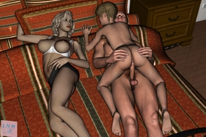 Rating: Explicit Score: 21 Tags: 1boy 2girls 3dcg age_difference ass bed bedroom braid breasts cowtits father_and_daughter girl_on_top hand_on_another's_ass incest l3d large_breasts lingerie lying_on_another mother mother_and_daughter multiple_girls nipples nude penis photorealistic randy_dave_tribute sex uncensored User: Software