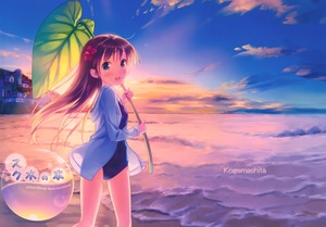 Rating: Safe Score: 0 Tags: 1girl absurdres bad_anatomy beach blue_eyes blush brown_hair carrying city cloud highres hood hoodie leaf long_hair looking_at_viewer ocean one-piece_swimsuit open_clothes open_hoodie open_mouth original outdoors sand scan scenery school_swimsuit sky smile solo sunlight sunset swimsuit takoyaki_(roast) water User: Domestic_Importer
