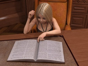 Rating: Safe Score: 3 Tags: 10s 1girl 2018 3dcg blonde_hair book chair desk lingerie lolifiedtrap original photorealistic reading realistic self_upload sitting solo tagme User: lolifiedtrap