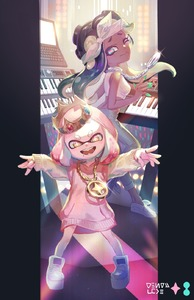 Rating: Safe Score: 0 Tags: +_+ 2girls ;) alternate_costume azutarou back-to-back backlighting bandana breasts cephalopod_eyes chain chain_necklace concert crop_top crown dress flat_chest flats gold_chain green_eyes green_nails highres hime_(splatoon) hood hoodie iida_(splatoon) instrument jewellery keyboard_(instrument) long_hair looking_at_viewer looking_back midriff mole mole_under_mouth multiple_girls music one_eye_closed outside_border pants pendant pillarboxed pink_hair pink_pupils platform_footwear playing_instrument purple_hair ring short_hair small_breasts smile splatoon_(series) splatoon_2 splatoon_2:_octo_expansion suction_cups sweater sweater_dress tentacle_hair yellow_eyes User: DMSchmidt
