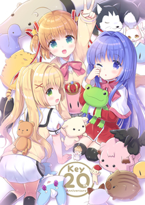 Rating: Safe Score: 3 Tags: 3girls :d ;o absurdres ahoge air all_fours angel anniversary black_legwear blonde_hair blue_eyes blush botan_(clannad) brown_hair cat clannad company_name crown dango_daikazoku dog green_eyes hair_intakes hair_ornament hair_ribbon highres holding holding_stuffed_animal hoshimame_mana kamikita_komari kanon keropii key_(company) kneeling little_busters! long_sleeves looking_at_viewer minase_nayuki multiple_girls one_eye_closed open_mouth purple_eyes purple_hair red_ribbon ribbon short_sleeves short_twin_tails smile star star_hair_ornament stuffed_animal stuffed_bird stuffed_boar stuffed_bunny stuffed_dinosaur stuffed_frog stuffed_toy summer_pockets tearing_up thighhighs tongue tongue_out tsumugi_wenders twin_tails v white_cat x_hair_ornament yellow_cat younger User: DMSchmidt