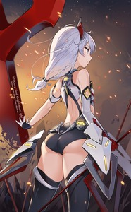 Rating: Safe Score: 2 Tags: 1girl aliceblue alternate_costume armored_leotard armour ass bangs bare_shoulders black_legwear blood blood_on_face bloody_clothes breasts cross_(weapon) elbow_gloves eyebrows_visible_through_hair fire floating_armour floating_hair from_behind gloves hair_between_eyes hair_ornament highres holding holding_weapon honkai_(series) honkai_impact light_particles long_hair red_eyes silver_hair single_elbow_glove small_breasts smirk solo theresa_apocalypse thighhighs thighs weapon User: DMSchmidt