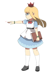 Rating: Safe Score: 0 Tags: 1girl absurdres apron bangs black_footwear blonde_hair blue_dress blue_eyes book bow bowtie bracelet closed_mouth collared_dress dress eyebrows_visible_through_hair full_body glasses highres holding holding_book jewellery kneehighs loafers long_hair original outstretched_arm puffy_short_sleeves puffy_sleeves red_neckwear shoes short_sleeves simple_background solo standing toy_box-r white_apron white_background white_legwear User: DMSchmidt