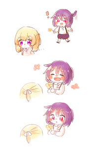 Rating: Safe Score: 0 Tags: ! 2girls :d ^_^ bang_dream! bangs black_shorts blonde_hair blush blush_stickers borderless_panels chibi closed_eyes comic expressive_hair flower hair_ribbon half_up multiple_girls open_mouth ribbon seta_kaoru shirasagi_chisato smile User: Domestic_Importer