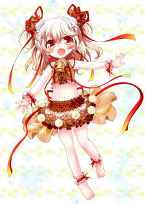 Rating: Safe Score: 1 Tags: 1girl ankle_bow ankle_cuffs ankle_ribbon bangs barefoot bell blonde_hair bow brown_skirt cow_bell dot_nose eyebrows_visible_through_hair frilled_skirt frills gradient_ribbon hair_bobbles hair_ornament heart heart_background highres layered_skirt long_hair looking_at_viewer midriff mike_(nasimomoringo) navel open_mouth original red_bow red_eyes red_ribbon ribbon see-through skirt snowflake_background snowflakes solo stomach two_side_up wrist_bow wrist_cuffs yukico-tan yukijirushi User: DMSchmidt