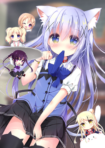 Rating: Safe Score: 0 Tags: 10s 5girls :d :o ;d alice_cartelet animal_ears arm_up bell black_legwear blonde_hair blue_eyes blue_hair blush brown_hair cardigan cat_band_legwear cat_ears cat_tail cat_thighhighs chibi crossover cup gochuumon_wa_usagi_desu_ka? hair_bun hair_ornament hairclip highres hoto_cocoa jacket jingle_bell kafuu_chino kin-iro_mosaic kneehighs kouda_suzu kujou_karen light_brown_hair long_hair minigirl mouth_hold multiple_girls one_eye_closed open_mouth paw_pose pink_cardigan purple_eyes purple_hair rabbit_house_uniform shirt shoes short_hair skirt smile tail teacup tedeza_rize thighhighs tippy tray twin_tails union_jack vest waving white_shirt x_hair_ornament yellow_eyes zettai_ryouiki User: DMSchmidt