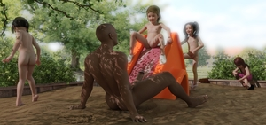 Rating: Explicit Score: 44 Tags: 1boy 3dcg 4girls age_difference barefoot brown_skin dark_skinned_male multiple_girls navel nipples nude penis photorealistic pussy sitting smile socks sofom standing User: fantasy-lover
