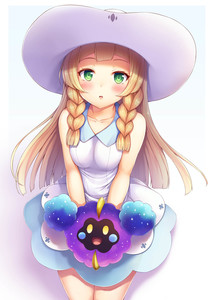 Rating: Safe Score: 1 Tags: 1girl :o bangs bare_arms bare_shoulders blunt_bangs blush braid breasts collarbone cosmog covering covering_crotch cropped_legs dress green_eyes hat highres lillie_(pokemon) long_hair looking_at_viewer open_mouth pokemon pokemon_(game) pokemon_sm simple_background skirt sleeveless sleeveless_dress snowcanvas solo sun_hat twin_braids white_background white_dress white_hat User: DMSchmidt