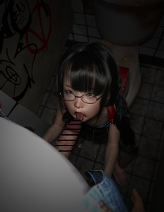 Rating: Explicit Score: 37 Tags: 1boy 1girl 3dcg age_difference backpack bag bangs black_hair blunt_bangs censored fellatio flat_chest glasses licking looking_up namihey7_(user_snyf2227) oral penis photorealistic shoes sitting standing toilet tongue User: fantasy-lover