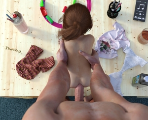 Rating: Explicit Score: 143 Tags: 1boy 1girl 3dcg age_difference anal artist_name ass brown_hair cellphone clothes_on_floor diaper diaper_change doggystyle flat_chest from_above from_behind hetero highres milkshake nude oil on_desk original penis photorealistic ponytail pov red_hair sex shirt slimdog solo_focus standing toddlercon toy train uncensored User: lalilu1234
