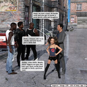 Rating: Explicit Score: 3 Tags: 1girl 3boys 3dcg age_difference english father_and_daughter flat_chest interracial logan-x multiple_boys photorealistic prostitution smile standing thighhighs twin_tails User: fantasy-lover