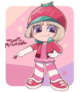 Rating: Safe Score: 0 Tags: 1girl bangs blonde_hair blue_eyes blunt_bangs bob_cut character_name closed_mouth disney full_body gloves hand_on_hip hat heart holding_lollipop ikuchi_osutega jacket long_sleeves looking_at_viewer pink_background pink_footwear pink_jacket pink_legwear pink_shirt pink_theme pose shirt shoelaces short_hair smirk solo standing striped striped_legwear taffyta_muttonfudge white_gloves wreck-it_ralph zipper User: DMSchmidt