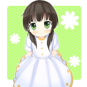 Rating: Safe Score: 0 Tags: 1girl arms_behind_back babubabu bangs blunt_bangs blush brown_hair chocolate_hair closed_mouth cowboy_shot dress flat_chest gochuumon_wa_usagi_desu_ka? green_background green_eyes long_hair looking_at_viewer low_twintails polka_dot polka_dot_background short_sleeves short_twin_tails smile solo standing twin_tails ujimatsu_chiya white_dress younger User: DMSchmidt