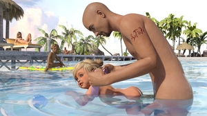 Rating: Explicit Score: 62 Tags: 2boys 3dcg 3girls absurdres age_difference blonde_hair blue_eyes flat_chest hair_bun highres multiple_boys multiple_girls nude open_mouth palm_tree photorealistic pool sofom toddlercon User: yobsolo