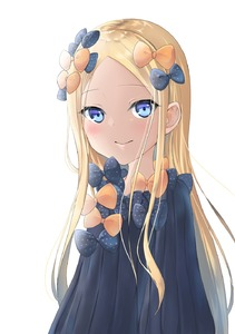 Rating: Safe Score: 0 Tags: 1girl abigail_williams_(fate/grand_order) bangs black_bow black_dress blonde_hair blue_eyes blush bow closed_mouth dress eyebrows_visible_through_hair fate/grand_order fate_(series) forehead hair_bow highres long_hair long_sleeves no_hat no_headwear orange_bow parted_bangs polka_dot polka_dot_bow senagawa_roro simple_background sleeves_past_fingers sleeves_past_wrists smile solo very_long_hair white_background User: DMSchmidt