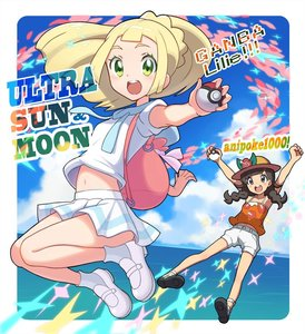 Rating: Safe Score: 0 Tags: !! 2girls :d arms_up black_eyes black_hair blonde_hair blue_sky blush blush_stickers braid cloud day english full_body green_eyes happy hat lillie_(pokemon) looking_at_viewer mizuki_(pokemon_ultra_sm) multiple_girls navel ocean open_mouth outdoors pokemon pokemon_(game) pokemon_usum ponytail round_teeth school_uniform serafuku short_sleeves shorts skirt sky smile stomach sun_hat teeth text twin_braids wokami User: Domestic_Importer