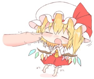 Rating: Safe Score: 0 Tags: 1girl :o absurdres ascot bangs barefoot blonde_hair blush bow breasts chibi closed_eyes collared_shirt crystal eyebrows_visible_through_hair fang flandre_scarlet frilled_hat frilled_skirt frills hands_up hat hat_bow head_out_of_frame highres legs_apart medium_skirt mob_cap motion_lines nose_blush open_mouth pigeon-toed puffy_short_sleeves puffy_sleeves raised_eyebrows red_bow red_skirt shirt short_hair short_sleeves shoupon side_ponytail simple_background size_difference sketch_eyebrows skirt skirt_set small_breasts smile solo_focus standing touhou_project translation_request white_background white_hat wing_collar wings yellow_neckwear |o User: DMSchmidt