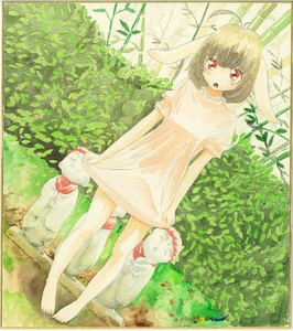 Rating: Safe Score: 0 Tags: 1girl animal_ears artist_name bamboo bamboo_forest barefoot black_hair border bunny_ears crying crying_with_eyes_open dress dutch_angle forest full_body highres inaba_tewi jizou leaf nature open_mouth pink_dress puffy_sleeves red_eyes shikishi short_hair short_sleeves skirt_hold solo statue tears touhou_project traditional_media uryan! watercolour_(medium) User: DMSchmidt