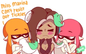 Rating: Questionable Score: 5 Tags: 3girls animated blush breasts brown_hair cleavage closed_eyes diives fangs gif green_eyes heart iida_(splatoon) licking lowres mole mole_under_mouth multiple_girls nintendo orange_eyes orange_hair pink_eyes pink_hair sexually_suggestive splatoon splatoon_2 sucking suggestive_fluid tongue wavy_mouth User: Domestic_Importer