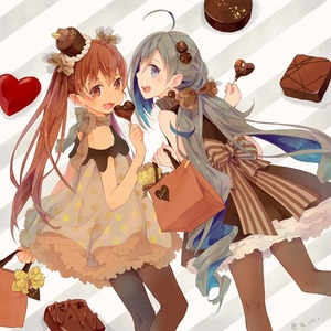 Rating: Safe Score: 0 Tags: 2girls ahoge alternate_costume bag black_dress brown_eyes brown_hair brown_legwear candy chocolate colis dress fang feet_out_of_frame food frilled_dress frills from_behind grey_eyes grey_hair hair_between_eyes hair_bun hair_ornament hair_ribbon hat heart kantai_collection kiyoshimo_(kantai_collection) libeccio_(kantai_collection) lollipop long_hair looking_at_viewer looking_back low_twintails mini_hat multiple_girls open_mouth pantyhose petticoat polka_dot polka_dot_dress ribbon smile striped striped_background tan twin_tails User: DMSchmidt