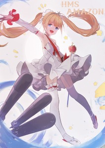 Rating: Safe Score: 1 Tags: 1girl abae alternate_costume amazon_(azur_lane) armpits azur_lane blonde_hair blue_eyes character_name detached_sleeves dress fang frills full_body garter_straps hair_ribbon highres open_mouth ribbon scepter smile solo star thighhighs tiara torpedo twin_tails water wedding_dress white_dress white_legwear User: DMSchmidt