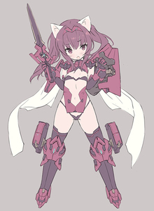 Rating: Safe Score: 2 Tags: 1girl alice_gear_aegis animal_ears bangs black_bra black_gloves black_legwear black_panties blade_(galaxist) blush bra brown_hair elbow_gloves eyebrows_visible_through_hair full_body gloves grey_background hair_between_eyes hairband head_tilt holding holding_shield holding_sword holding_weapon ichijou_ayaka looking_at_viewer mecha_musume micro_bra micro_panties navel open_mouth pantsu red_hairband revealing_clothes shield sidelocks solo standing sword thighhighs twin_tails underwear weapon User: DMSchmidt