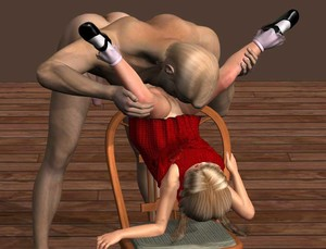 Rating: Explicit Score: 7 Tags: 1boy 1girl 3dcg bill3d blonde_hair cunnilingus holding_legs on_chair oral photorealistic upside-down User: Pieman