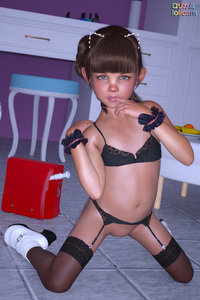 Rating: Questionable Score: 20 Tags: 1girl 3dcg animal_ears backpack bag bangs blunt_bangs brown_hair cat_ears english finger_to_mouth flat_chest flute footwear fruit green_eyes hairband kneeling lingerie looking_at_viewer mary_janes navel photorealistic poki pussy randoseru recorder shoes socks source_request tan thighhighs User: mushimushi