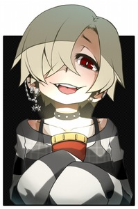 Rating: Safe Score: 0 Tags: 10s 1girl ayame_(0419) blonde_hair choker dark ear_piercing face fangs flashlight hair_over_one_eye hands_in_sleeves idolmaster idolmaster_cinderella_girls looking_at_viewer piercing portrait red_eyes see-through shirasaka_koume shirt simple_background solo striped striped_shirt tongue tongue_out User: DMSchmidt