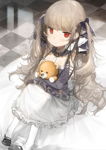 Rating: Safe Score: 3 Tags: 1girl azur_lane bangs bare_shoulders black_footwear black_ribbon blunt_bangs bridal_gauntlets closed_mouth dress earrings expressionless eyebrows_visible_through_hair formidable_(azur_lane) frilled_dress frilled_skirt frills gothic_lolita grey_hair hair_ribbon holding holding_stuffed_animal huge_filesize jewellery jitome knees_up lolita_fashion long_hair long_skirt long_sleeves looking_at_viewer mary_janes red_eyes ribbon shoes sitting skirt solo stuffed_animal stuffed_toy teddy_bear tile_floor tiles twin_tails very_long_hair watarumi white_legwear younger User: DMSchmidt
