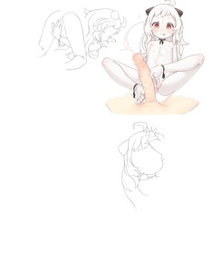 Rating: Explicit Score: 7 Tags: 1girl absurdres ahoge cum cum_on_body cum_on_hair cum_on_upper_body ejaculation facial footjob highres kantai_collection nipples northern_ocean_hime nude penis pussy shishigajs sketch spread_legs tongue tongue_out work_in_progress User: DMSchmidt