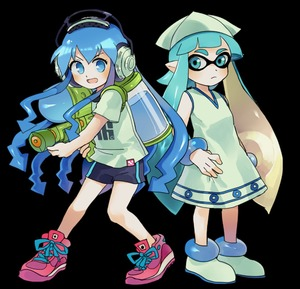 Rating: Safe Score: 0 Tags: 2girls :d >:d akiyoku blue_eyes blue_hair blush bracelet clothes_writing cosplay costume_switch crossover dress full_body hat hat_removed headphones headwear_removed ikamusume ikamusume_(cosplay) ink_tank_(splatoon) inkling inkling_(cosplay) jewellery multiple_girls nintendo no_hat no_headwear no_pupils open_mouth shinryaku!_ikamusume shirt shoes short_sleeves shorts smile sneakers splatoon splatoon_(series) splattershot_(splatoon) super_soaker t-shirt tentacle_hair tentacles transparent_background v-shaped_eyebrows User: DMSchmidt