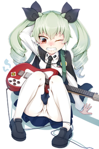 Rating: Safe Score: 2 Tags: 1girl anchovy arm_behind_head arm_support cameltoe cape clenched_teeth drill_hair fallen_down girls_und_panzer green_hair guitar hair_ribbon instrument kashu loafers long_hair looking_down miniskirt necktie one_eye_closed panties_under_pantyhose pantsu pantyhose red_eyes ribbon shoes sitting skirt tears teeth twin_drills twin_tails underwear white_legwear wince User: DMSchmidt