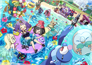 Rating: Safe Score: 2 Tags: 10s 4boys 4girls ^_^ acerola_(pokemon) arms_up basket beach beanie bikini blush blush_stickers brown_skin bubble character_request closed_eyes cosmog day dhelmise elite_four flower frilled_bikini frills gladio_(pokemon) goggles hair_dryer happy hat hau_(pokemon) hibiscus kingin kuchinashi_(pokemon) lillie_(pokemon) litten male_swimwear midriff mimikyu mizuki_(pokemon) multiple_boys multiple_girls navel npc_trainer ocean one-piece_swimsuit open_mouth oranguru outdoors partially_submerged pelipper pokemon pokemon_(creature) pokemon_(game) pokemon_sm popplio porygon-z pose rowlet shirt shorts smile splashing suiren_(pokemon) swim_trunks swimsuit swimwear tapu_bulu tapu_fini tapu_koko tapu_lele topless trial_captain type:_null water you_(pokemon_sm) User: Domestic_Importer