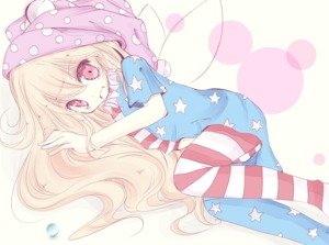 Rating: Safe Score: 0 Tags: 1girl american_flag_dress american_flag_legwear blonde_hair clownpiece dress fairy_wings hat inasa_orange jester_cap long_hair looking_at_viewer lying neck_ruff on_side pantyhose polka_dot red_eyes short_dress short_sleeves simple_background solo star striped striped_legwear touhou_project very_long_hair wings User: DMSchmidt