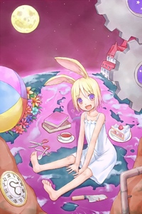 Rating: Safe Score: 0 Tags: 1girl :d animal_ears ball barefoot beachball blonde_hair book bunny_ears cake clock cup dress feet flower food fork gears knife moon open_mouth original purple_eyes scissors short_hair sky smile solo spoon star_(sky) starry_sky teacup white_dress yuyuzuki_(yume_usagi) User: DMSchmidt