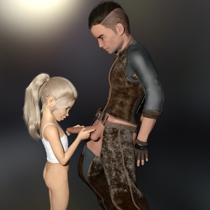 Rating: Explicit Score: 3 Tags: 1boy 1girl 3dcg age_difference ass blimp blonde_hair bottomless flat_chest holding_penis long_hair looking_at_partner looking_at_penis looking_down nail_polish penis penis_awe photorealistic ponytail shadow standing User: fantasy-lover