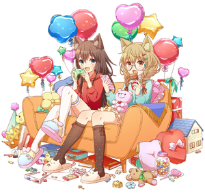 Rating: Safe Score: 1 Tags: 2girls 3d_glasses :< :d animal_ears balloon book braid brown_hair candy cellphone chest chocolate_bar controller couch crayon crown denim denim_shorts doll_house fang game_controller glasses green_eyes hat heart_print highres hoodie jar key kneehighs light_brown_hair lollipop long_hair lunchbox multiple_girls open_mouth original paper party_hat phone pillow rubber_duck short_shorts shorts sitting skirt slippers smartphone smile snow_globe stuffed_animal stuffed_toy suitcase teddy_bear thighhighs twin_braids wrapped_candy yutsumoe User: DMSchmidt