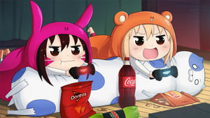 Rating: Safe Score: 1 Tags: 2girls :d :t >:d alina_pegova blonde_hair brown_hair chibi chips coca-cola controller crossover d.va_(gremlin) d.va_(overwatch) doma_umaru doritos food game_controller hamster_costume himouto!_umaru-chan komaru lay's mountain_dew multiple_girls open_mouth overwatch potato_chips smile whisker_markings User: Domestic_Importer